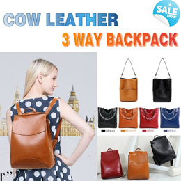 6a183864e296 Cow Leather Backpack   Tote School Bag  Satchel   Messenger Shoulder Bag  Hand Bag