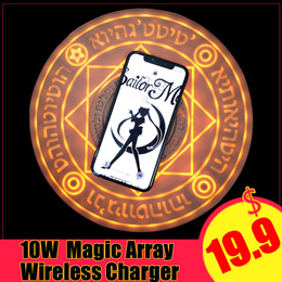 New Comic Magic Array Wireless Charger 5W/10W Fast Charger Charging Pad