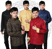 Best-Selling Cheongsam for Men 唐装 CNY Traditional Clothes / Wedding/ DINER / DND Mens Stand collar t