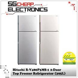 Hitachi R-V480P3MS-1 2-Door Top Freezer Refrigerator (395L)