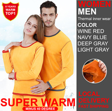 ★★Local delivery SG★★ Women Winter Thermal inner wear Shirt+Pant SET HIGH QUALITY★★men winter wear★★