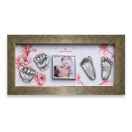 ★送料無料★立体的な手形・足型 ママとパパが赤ちゃんに贈る世界で一つだけのプレゼント 出産祝いに最適 赤ちゃん 3D 立体 手足型メモリアル DIY(手形・足型:Silver)G5