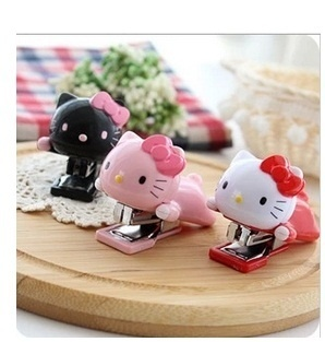 Hello kitty kartun Mini stapler stapler stapler lucu kitty kucing kepala Viking Deals for only Rp235.930 instead of Rp235.930