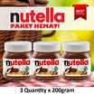 Nutella - PAKET HEMAT (3 Qty) Selai Coklat Hazelnut | 200 Gr| ORIGINAL