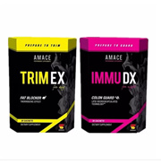 【Amace】TRIM EX Fat Blocker + IMMU DX Colon Guard Dietary Supplement (1set)