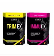 【Amace】TRIM EX Fat Blocker + IMMU DX Colon Guard Dietary Supplement (1set)