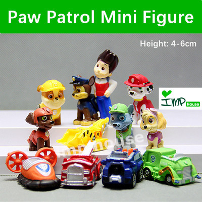 ★IMP HOUSE★[Paw Patrol Toy] Paw Patrol Mini Figure 12pcs set Cake  Decoration Cake Topper