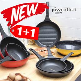 Lowenthal NEW Xylen+titanium Ceramic Frying Pan 2 Set / wok grill pan cooking cookware