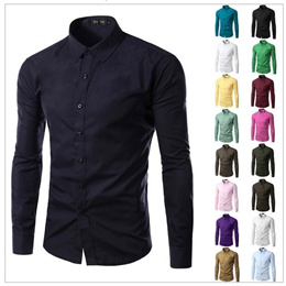 Brand New Mens Formal Business Shirts Casual Type Slim Long Sleeve Dresse Shirt Camisa Masculina Cas
