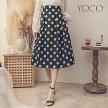 YOCO - Polka Dot Pleated Skirt-181550-Winter