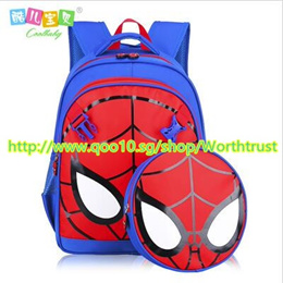 ¥Animation Cartoon Children Backpack Boys Spider man School Bags For Children Primary Students Bag