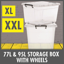 Special Price ★ 77L -XL / 95L - XXL Large Storage Container With Wheels ★ Strong Durable ★
