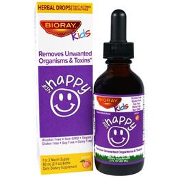 BioRay Inc. NDF Happy Removes Unwanted Organisms & Toxins Kids Peach Flavor 2 fl oz. (60 ml)
