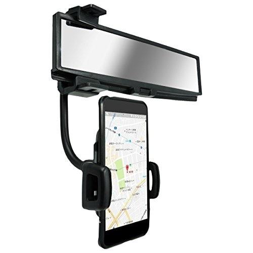 CarOver 360度 回転 バックミラー 取り付け スマホ ホルダー スマホスタンド 視界 クリア アプリ カーナビ ドライブ CO-MR-HOLDER