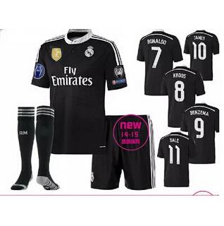 c798af229 Real Madrid away black jersey 14-15 Real Madrid away black second road  jersey Real