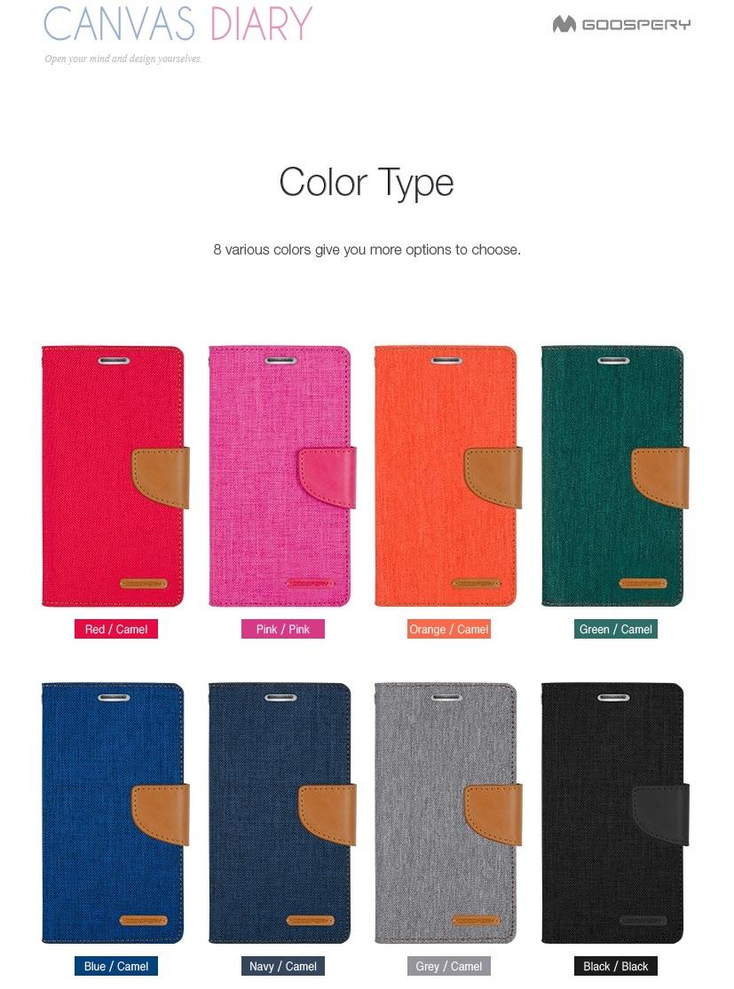 Qoo10 Mercury Canvas Diary Mobile Accessories Goospery Xiaomi Mi 6 Case Black Actual Size Prev Next