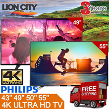 Philips 4K UHD Ultra Slim TV [43/49PUT5801 / 50/55PUT6102 SMART] Free Delivery 3yrs Warranty
