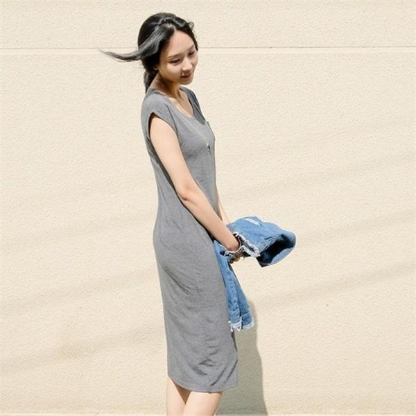[アーバンフラン]ロモンポケットノースリーブワンピース(3color)new ロング/マキシワンピース/ワンピース/韓国ファッション