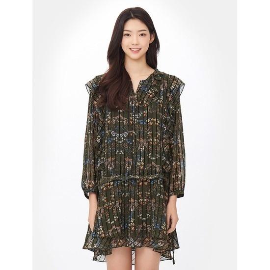 エイトセカンズ女性カーキボテニコルフリルミディワンピース127671Q9CH 面ワンピース/ 韓国ファッション