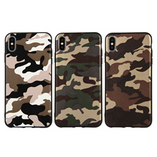 iPhone XS X XR XS Max Camouflage Phone Silicon Cover Case 25254