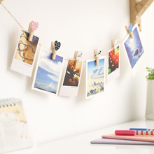 Korean version of the photo albums and creative DIY wall clips wooden rope of mass-shaped photo post