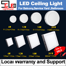 Model: Panel Light Surface Mount [Warehouse Direct] Local Support and Warranty 6W 12W 18W 24W LED ceiling light (Kitchen / Yard / Balcony ) LED light LED lighting