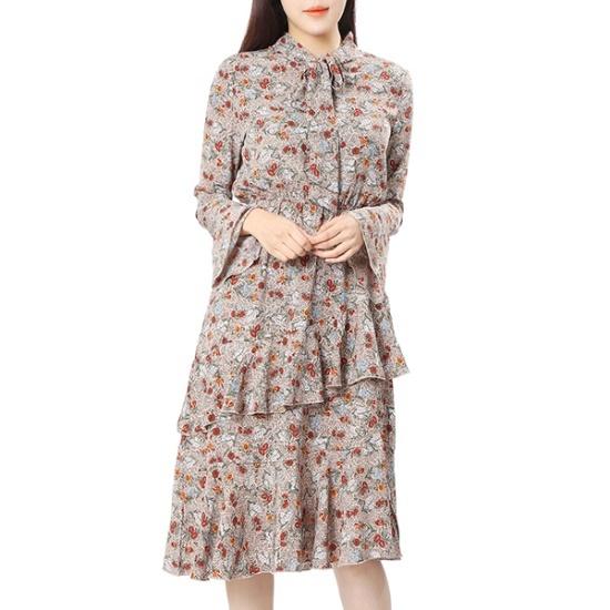 [ラップ(LAP)]オンバルフリルプリントOPS(AJ2WO241) 面ワンピース/ 韓国ファッション