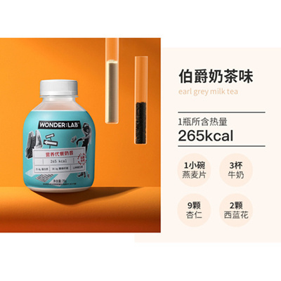 WonderLab Fat Bottle Milk Tea Earl Grey 450g x 2