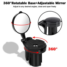 Bicycle Rearview Road Bike Handlebar Mirror 360 Degree Rotatable Bike Accessories Safe Cycling Handl