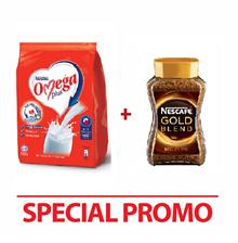NESTLE OMEGA PLUS Milk Powder 1kg + NESCAFE Gold Jar 200g