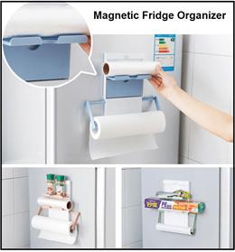 Magnetic Fridge Organizer/Fridge Holder / Automatic Toothpaste Dispenser / Wall Decal / Storage Box