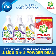 [Dynamo] Power Gel Detergent 2.7/3KG + Powder With Downy 640G