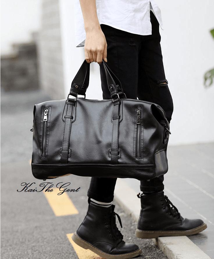 ab277a113e Qoo10 - Mens Leather Gym Bag   Men s Bags   Shoes