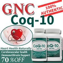 [6off30][GNC Heart Health] CoQ-10 100Mg/200Mg 60/75/120/150 Softgels