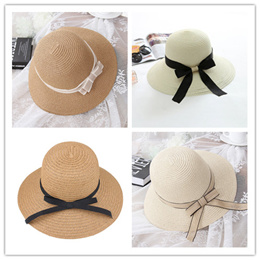 Bestseller♚Korea fashion Bowknot Sun-proof Hat ★ Beach Hat for Holiday Travel ★ Block UV protect hat