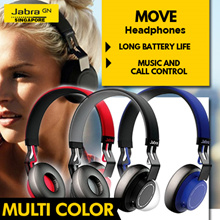 Jabra Move Headphones (Gold/Coal/Cobalt/Cayenne) 2 Year Local Warranty