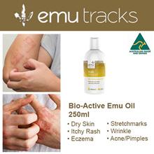 Australian Bio-Active Emu Oil 250ml. For All Skin Problems. 100% Natural.
