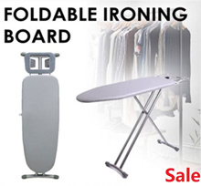 Folding Ironing Board [Height-Adjustable] Ironing Board With  Heat Resistant Cotton Cover