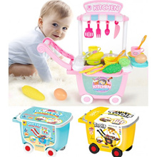 Child Simulator Kitchen Cutlery Set Engineer Doctor Game Cart Toy