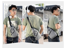 READY STOCK -  Tas Selempang Pria USB Bahan Oxford Asli Import Lubang Earphone -BP100 - BEST SELLER
