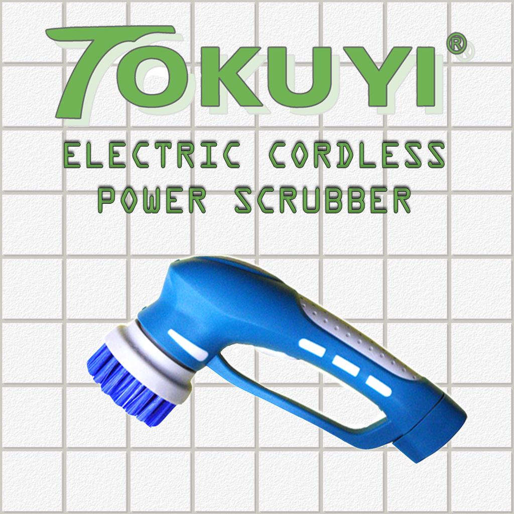 Qoo10 - Tokuyi Cordless AutoSpin Power Scrubber-with 1piece ...