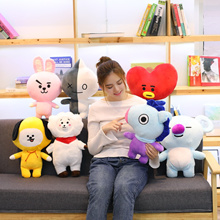 25cm Kawaii Bangtan Boys BTS bt21 Plush Animals Toys TATA VAN COOKY MANG CHIMMY SHOOKY KOYA RJ Plush