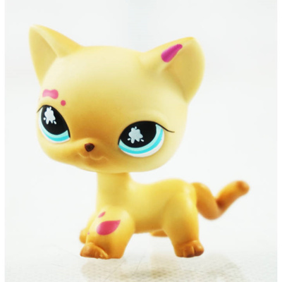 2 Messiest Cream Tan Cat Littlest Pet Shop LPS 816 Kitty Kids Toys Girl toys