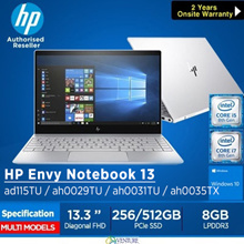 HP ENVY 13-ad115TU/ah0029TU Notebook( 8th Gen Intel i5-8250U 8GB 256GB/360GB PCIe)|Lightweight Laptop|Local Stock Local Warranty|