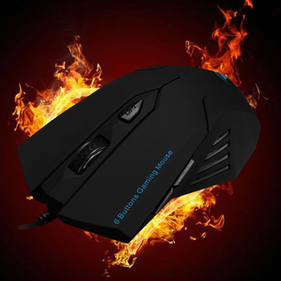 Cool Gaming Mice USB Wired Optical Scroll Wheel 6 Button Mouse For Computer  Laptop Fashion