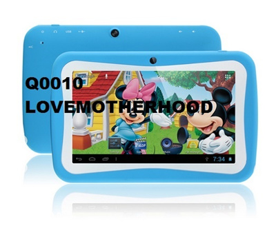 COUPON; 7 inch kids tablet Quad Core Kids pad Android 4.4 Dual Camera Educational Games App children