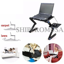 Portable 360°Adjustable Laptop Notebook Table Stand Tray Desk Black/Pink for Sofa Bed Carpet Lawn