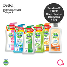 [RB]【FREE gift】4 x Dettol Value Pack Twin Body 950ml | Direct from Singapore