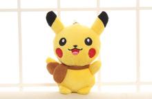 1pcs 10cm Cute Cartoon Pikachu Plush toy Dolls MIni kawaii Stuffed Toys Bag Strap Pendant keychain F