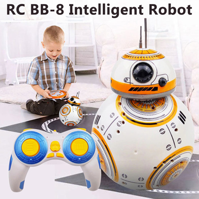 Upgrade Model Star Wars RC BB-8 Droid Robot BB8 Ball Intelligent Robot Kid  Toy Gift With Sound 2 4G